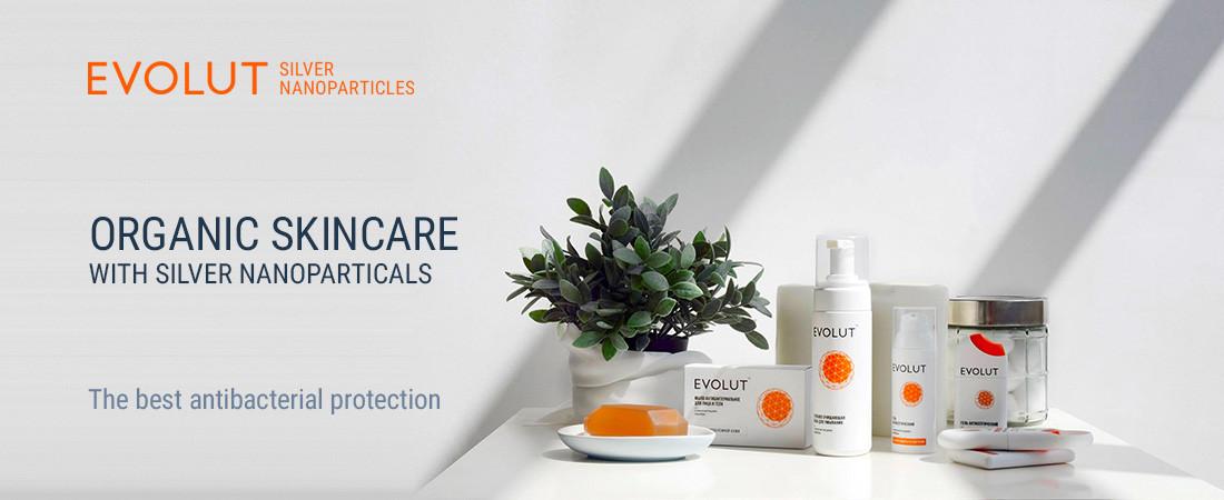 evolut skin care with silver nanoparticals